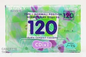 CDixⅠ 120(ノーマル,C-120CDX1F) / SONY